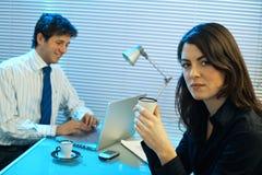 late office working Στοκ φωτογραφία με δικαίωμα ελεύθερης χρήσης