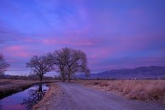 Late Owens Valley Sunset stock photography