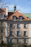 Late-Renaissance style burgher houses which were rebuilt after the Second World War and now form the UNESCO World Heritage Site Ol. WARSAW, POLAND - APRIL 28 Royalty Free Stock Photo