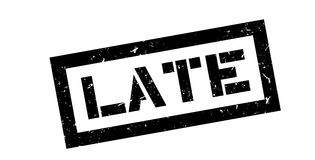 Late rubber stamp. On white. Print, impress overprint Royalty Free Stock Photography