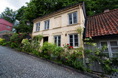 Late 1700s wooden house on Damstredet Street in Oslo, Norway Stock Photography