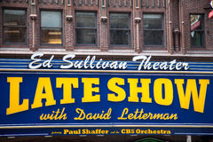 The Late Show with David Lettermann Stock Photography