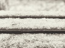 Late snow with hailstones royalty free stock photo