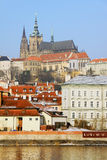 The late Snow - Prague gothic Castle Royalty Free Stock Image