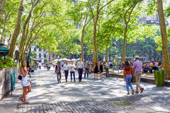 Late Spring Bryant Park Stock Photography