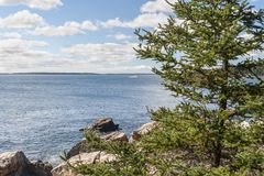 Peaceful view of ocean off Acadia National Park Royalty Free Stock Photography