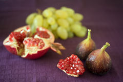 Late summer fruits Stock Photos
