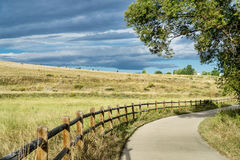 Late summer on Poudre River Trail Stock Photography