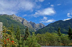 Late summer in the Stubai Valley in Tyrol Stock Photo
