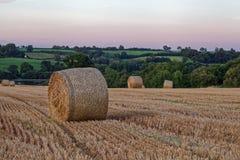 Late Summer sunset over fields Stock Photos
