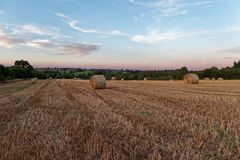 Late Summer sunset over fields Stock Images