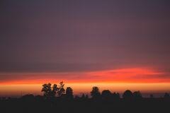 Late sunset Royalty Free Stock Images