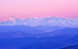 Late sunset in Himalaya Stock Photography
