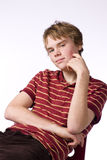 Late Teenage Boy. Teenage boy looking into camera with a friendly smile Stock Photography