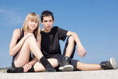 Late teenagers looks at camera Royalty Free Stock Photography