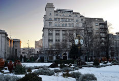 Late winter afternoon Cismigiu Park, Bucharest, Romania Royalty Free Stock Images