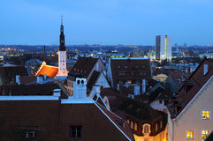 Late Winter Afternoon in Tallinn Stock Photos