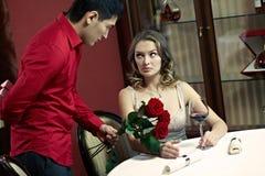 Latecomer boyfriend Royalty Free Stock Photography