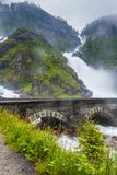 Latefossen瀑布在挪威 免版税库存图片