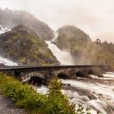 Latefossen瀑布在挪威 图库摄影