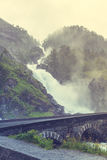 Latefossen瀑布在挪威 免版税库存照片