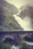 Latefossen瀑布在挪威 库存图片