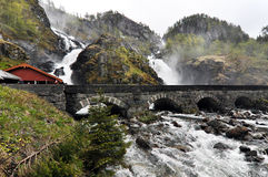 Latefossen,挪威 免版税库存照片