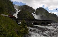 Latefossen,挪威 库存照片