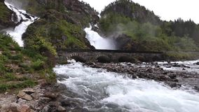 Latefossen stock videobeelden