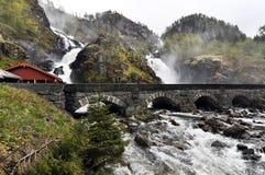 Latefossen, Noorwegen Royalty-vrije Stock Foto's