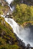 Waterfall in Norway. Latefossen, one of the biggest waterfalls in Norway Stock Images