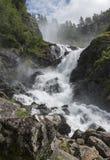 Latefossen vattenfall Norge Fotografering för Bildbyråer