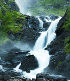Latefossen waterfall Royalty Free Stock Photo