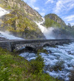 Latefossen Waterfall in Norway Royalty Free Stock Image