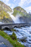 Latefossen Waterfall in Norway Stock Image