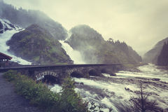 Latefossen waterfall in Norway Stock Photo