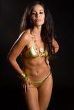 Lateinamerikanische Frau im Bikini stockbilder