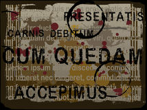 Lateinischer Latein-Text Grunge Hintergrund Stockfotos