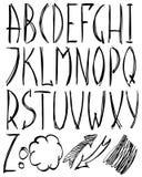 Lateinisches Alphabet lizenzfreie abbildung