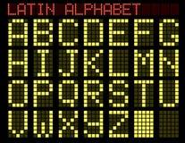 Lateinisches Alphabet. Schauzeichen. Lizenzfreies Stockbild