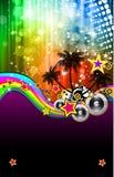 Lateinisches Disco-Ereignis-Flugblatt für Plakate Stockbild