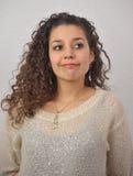 Lateinisches Mädchen oben gekleidet Stockbild