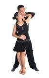 Lateinisches Tänzertanzen der Paare Stockfotografie
