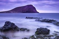 LaTejita strand, Tenerife, kanariefågelöar, Spanien Royaltyfri Foto