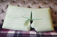 Lateksowa poduszka w pokoju fotografia stock