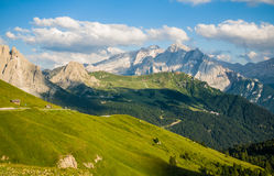 Latemar Dolomites Arkivfoto