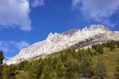 Latemar, een beroemde berg in het Dolomiet, Zuid-Tirol, Trentino, Italië stock fotografie