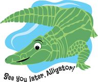 Later Alligator Royalty Free Stock Photos