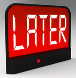 Later Clock Shows Afterwards Or In A While Stock Photography