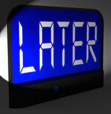 Later Digital Clock Shows Afterwards Or In A While Royalty Free Stock Images